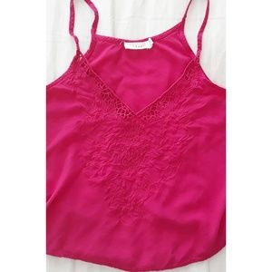 Lush Embroidered Crop Tank